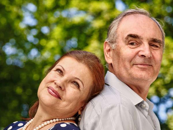 a loving senior couple
